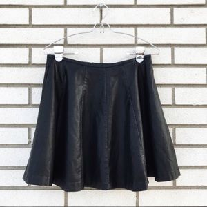 L'Amour Nanette Lepore Faux Leather Mini Skirt